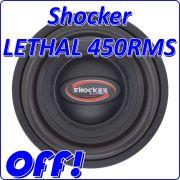 Subwoofer 12 Shocker Lethal 450 W Rms 4 Ohms Promoção