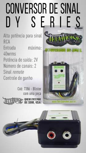 Conversor Technoise Fio Rca De Sinal 2 Canais 40w Ref.:7386