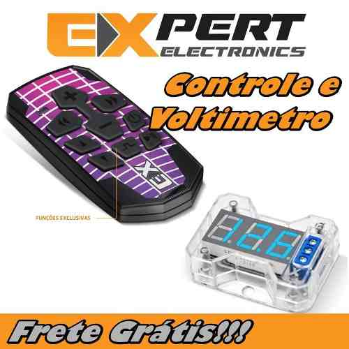 Kit Com Controle Longa Distancia E Voltimetro Vex1.0 Expert