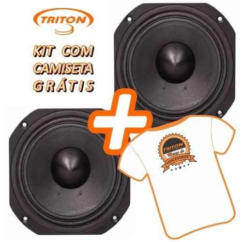 Kit Com 2 Falantes Woofer Triton 6 Xrl 400 8 Ohms 200 W Rms