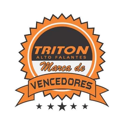 Caixa De Som Trio Triton 400 Rms + Driver + Tweeter Completa