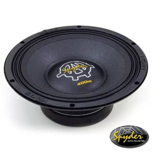 Caixa De Som Trio Spyder 400 Rms + Driver + Tweeter Completa