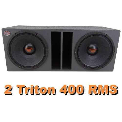 Caixa De Som Dupla Triton 400 Rms 12 Polegadas Completa