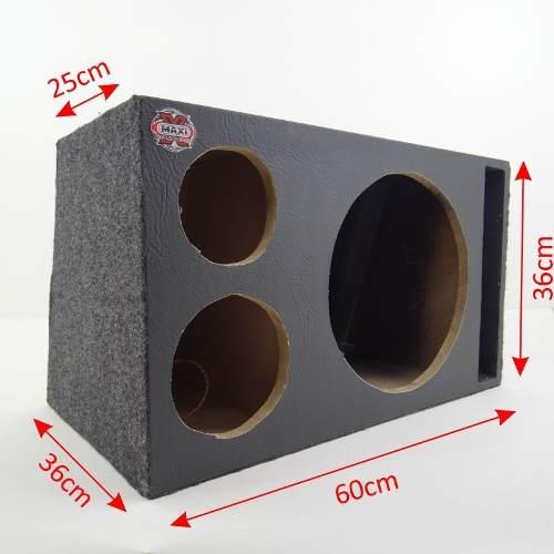 Caixa De Som Trio Para Pancadão / Seco Com Duto Fiação Plug