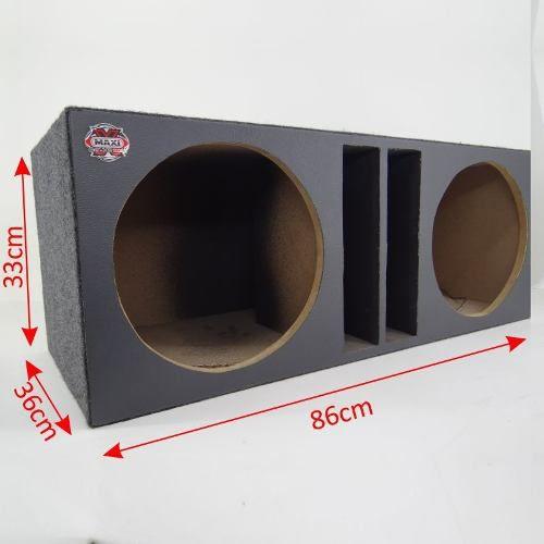 Caixa De Som Pancadão Seco Dutada Com Fiação Plug