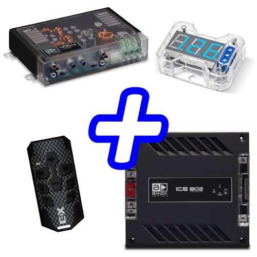 Kit De Som Módulo Banda 400.4 Ice 802 Controle E Voltimetro