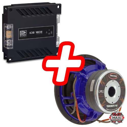 Kit Shocker Terremoto 1200 Rms 12 Polegadas + Banda Ice 1602