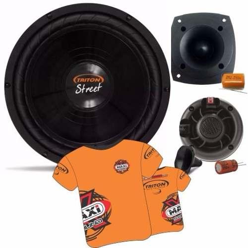 Kit Trio Sub Woofer Triton Street 200 W 12 + Tweter E Driver