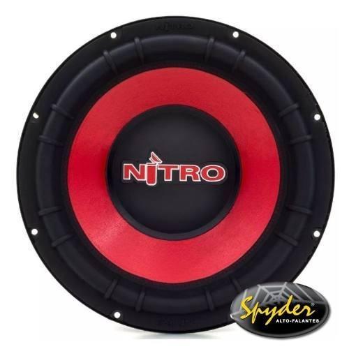 Subwoofer Spyder Nitro G5 12 Pol 700w Rms 4 + 4 Ohms Vermelho