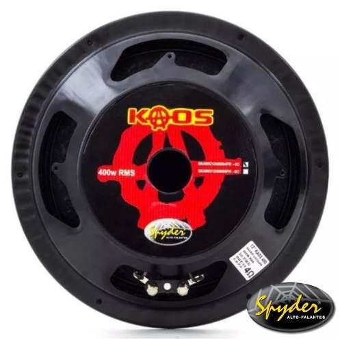Kit Trio Som Woofer Kaos 12 400w + Driver + Tweeter Spyder