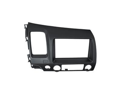 - Moldura Painel 2 Din Grafite Dvd Honda New Civic 2006 À 2011