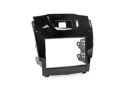 Moldura Dvd 2 Din Nova S10 Blazer Black Piano Com Suporte