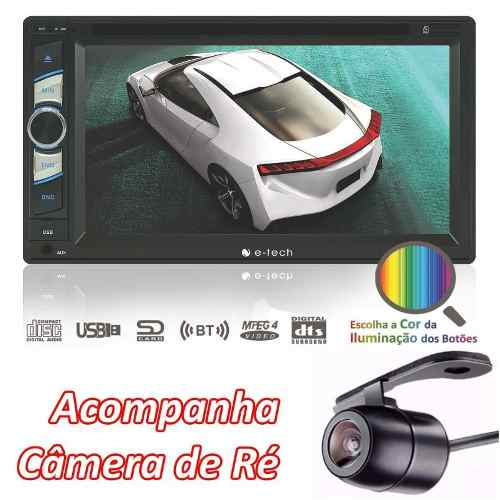 Central Multimidia Universal Dvd Usb E-tech Com Camera De Ré