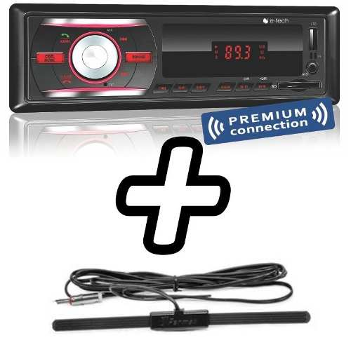 Mp3 Player Automotivo Bluetooth E-tech Usb Sd Aux + Antena