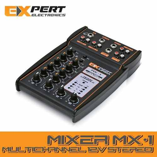 Mesa De Som Expert Mx-1 Automotiva Entrada Aux Microfone
