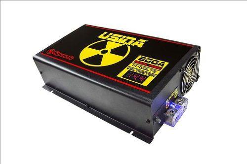 Fonte Carregador De Bateria Usina Spark 200a 12v Voltimetro