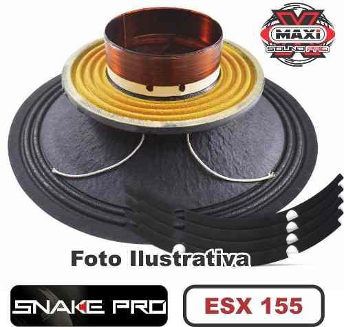 Kit Reparo Snake Pro Esx 155 15 8 Ohms 600w Original + Cola