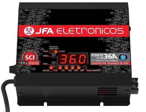 Fonte Carregador Automotivo 36a Slim Jfa Bivolt E Voltimetro