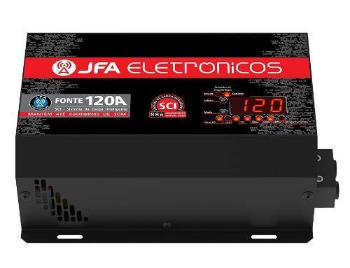 Fonte Carregador Automotivo 120a Slim Jfa Bivolt E Voltimetro