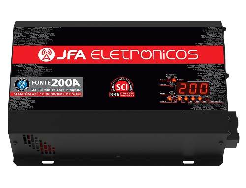 Fonte Carregador Automotivo 200a Top Jfa Bivolt Voltimetro