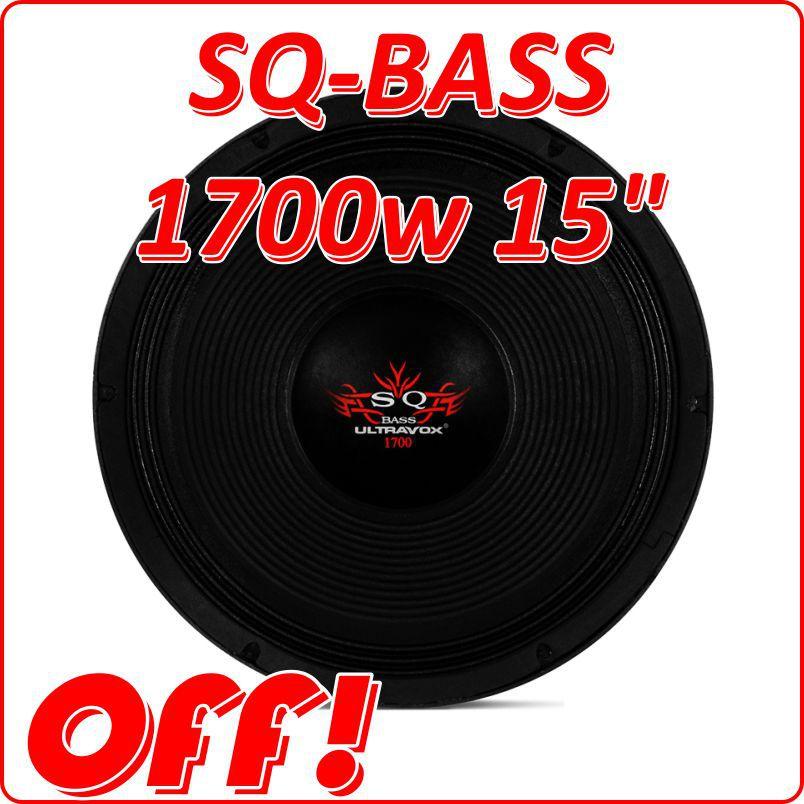 - Alto Falante Woofer Ultravox Sq Bass 1700 W 15 4 Ohms Sq1715