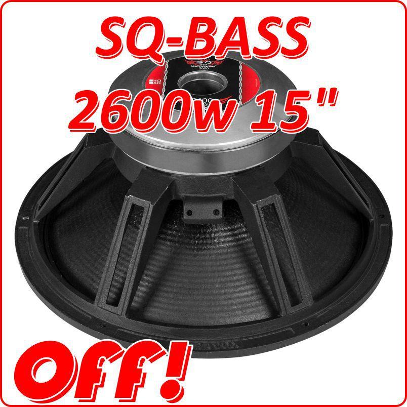 Alto Falante Woofer Ultravox Sq Bass 2600 W 15 4 Ohms Sqbass