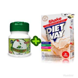 Composto Emagrecedor 60 caps + Shake Emagrecedor Diet Way
