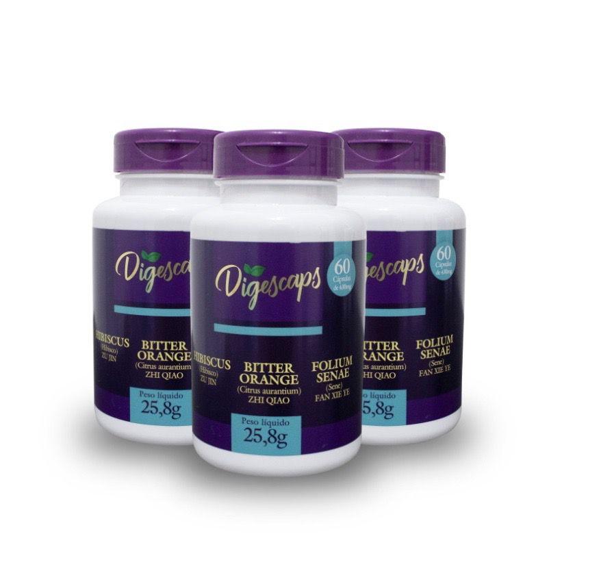 Digescaps 3D - Detox, Diurético e Digestivo (3uni.)