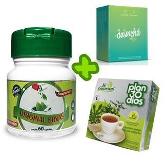 Composto Emagrecedor 60 cáps+ Desinchá + Chá Plan 30 dias