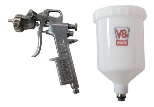 Pistola De Pintura Pp3 V8 1.4 600ml E Mini Filtro De Ar Mtx