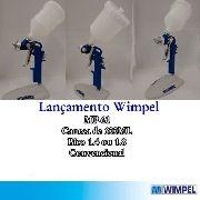 Pistola De Pintura Gravidade Wimpel Hvlp Mp61 400ml Bico 1.8