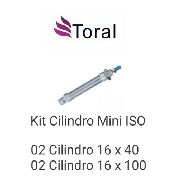 Kit 02 Cilindro Mini Iso 6432 16 X 40 + 02 16 X 100