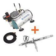 Compressor Wimpel Bivolt Comp1 E Aerógrafo Steula Bc-60 0.3