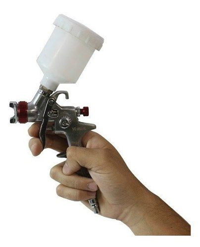 Pistola De Pintura 0.8 Ppk V8 E Mini Filtro De Ar 1/4 Mtx