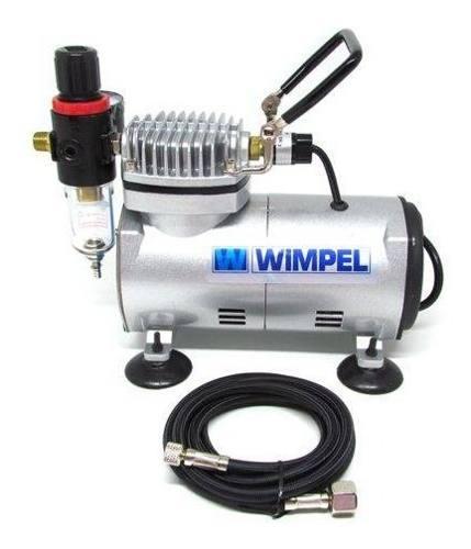 Aerógrafo Steula Bc61 Bico0.2+compressor Wimpel Comp1 Bivolt