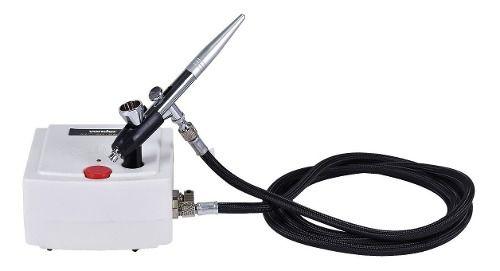 Aerógrafo Profissional Com Minicompressor Bivolt Kit Vonder