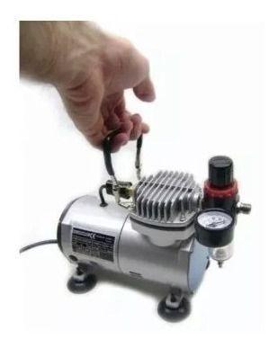 Aerógrafo Steula Bc60-0.3 + Compressor Comp1 + Kit De Tintas