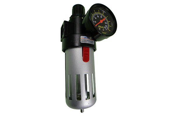 Filtro regulador de Pressão de AR com Manômetro Rosca 1/2 Polegada 0 á 10 Bar