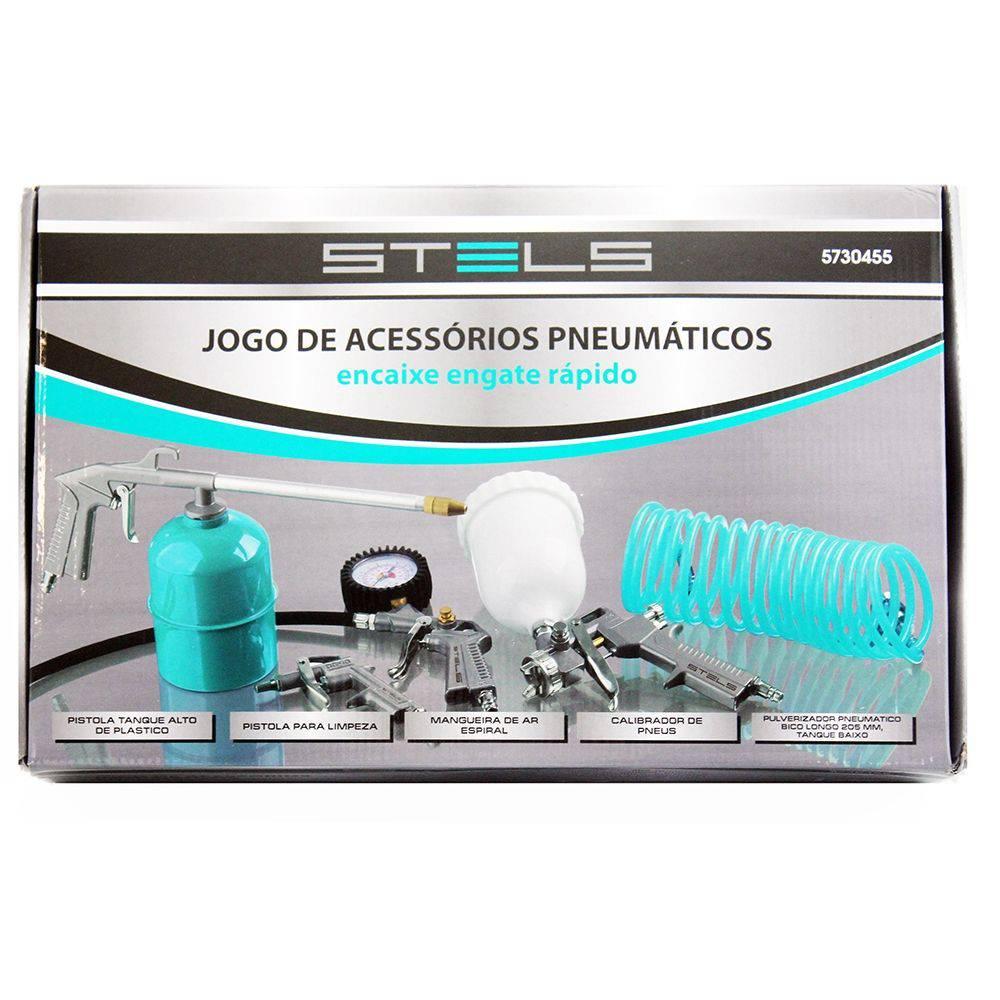 KIT Acessórios Pneumáticos com 5 peças Stels
