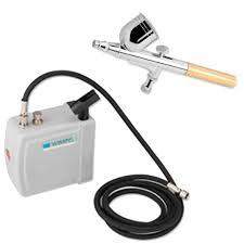 Kit Aerografia Compressor Silencioso COMP-3 Wimpel e Aerógrafo MP-1002 0,35 mm Wimpel
