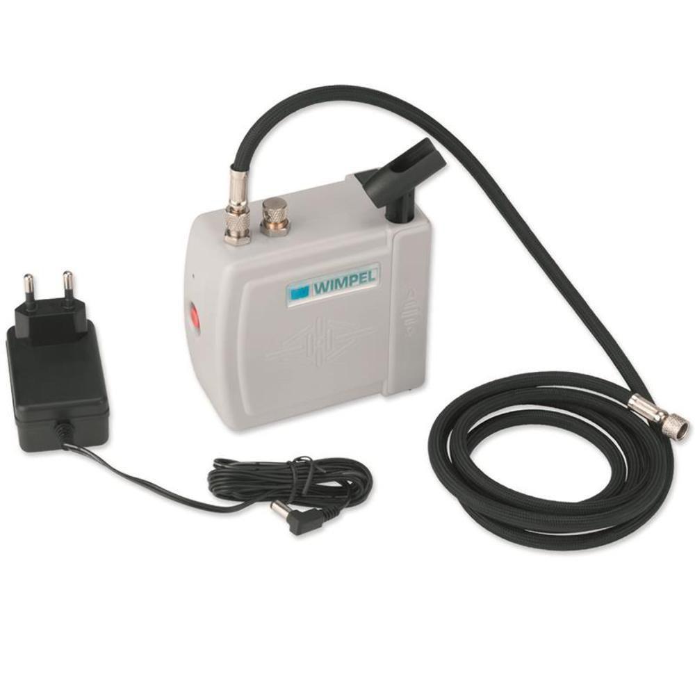 Kit Aerografia Compressor Silencioso COMP-3 WIMPEL e Aerógrafo MP-1003 Dupla Ação 0.35 mm