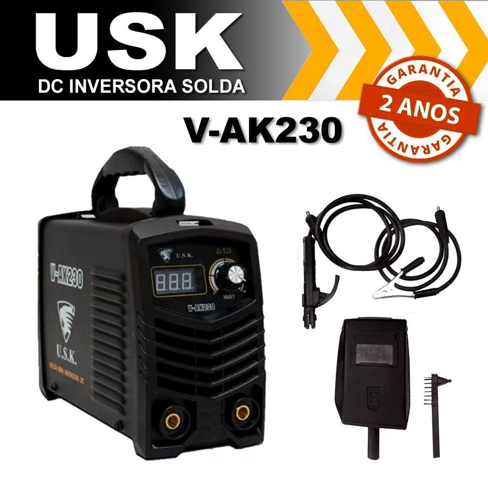 Máquina Inversora de Solda VAK-230 220V USK com Acessórios