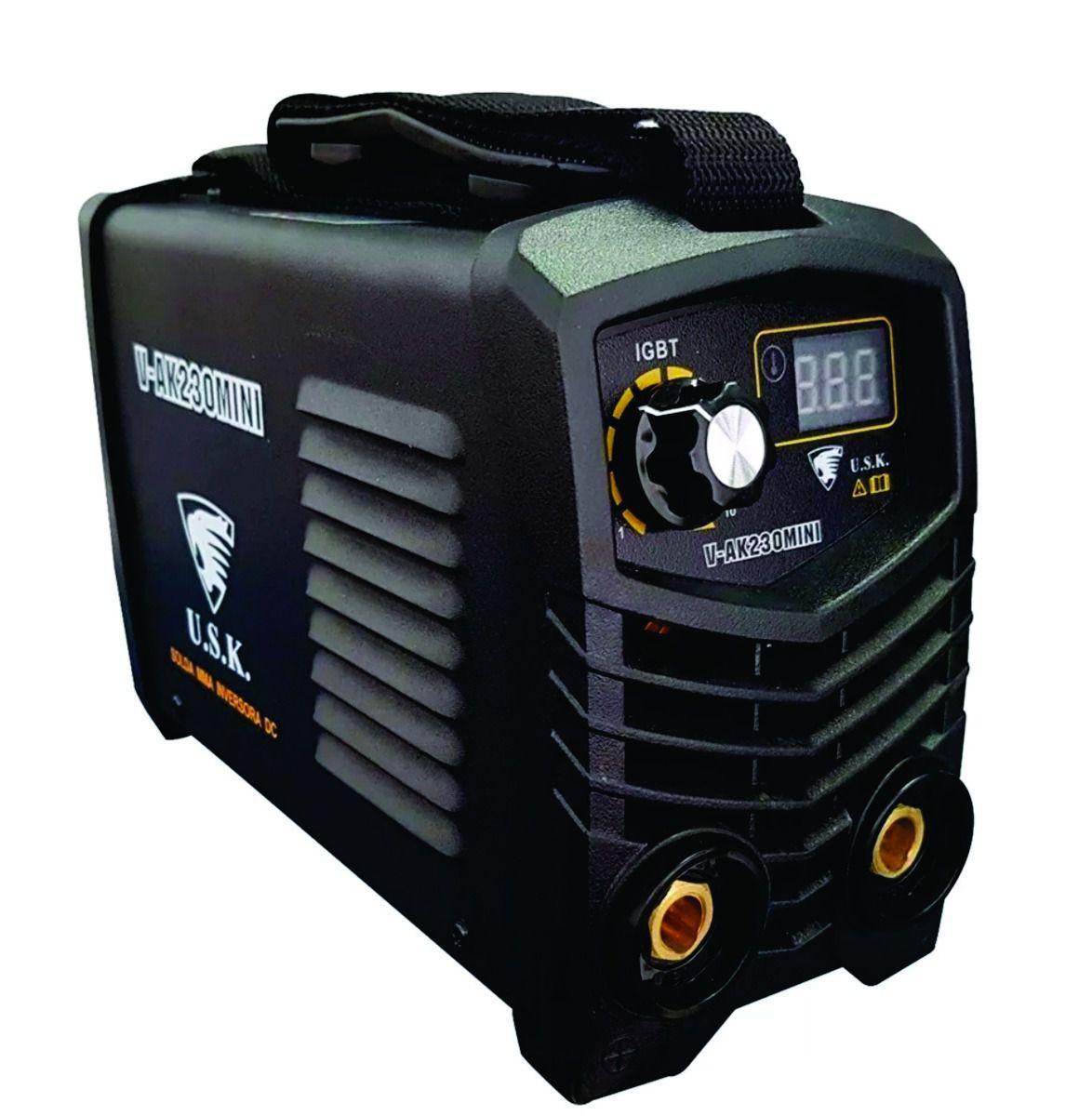 Máquina Inversora de Solda VAK-230 Mini 220v USK Com Acessórios