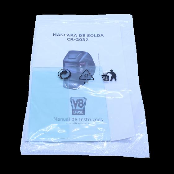 MASCARA DE SOLDA COM REGULAGEM DE TONALIDADE 4 A 13 V8-CR2
