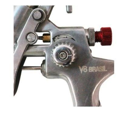 Pistola de Pintura Gravidade V8 Brasil PPK-4 0.8 mm 125 ML