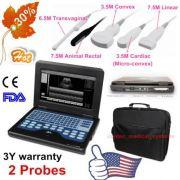 Fda&Ce Portátil Ultrasound Scanner Laptop Machine 2 Probe