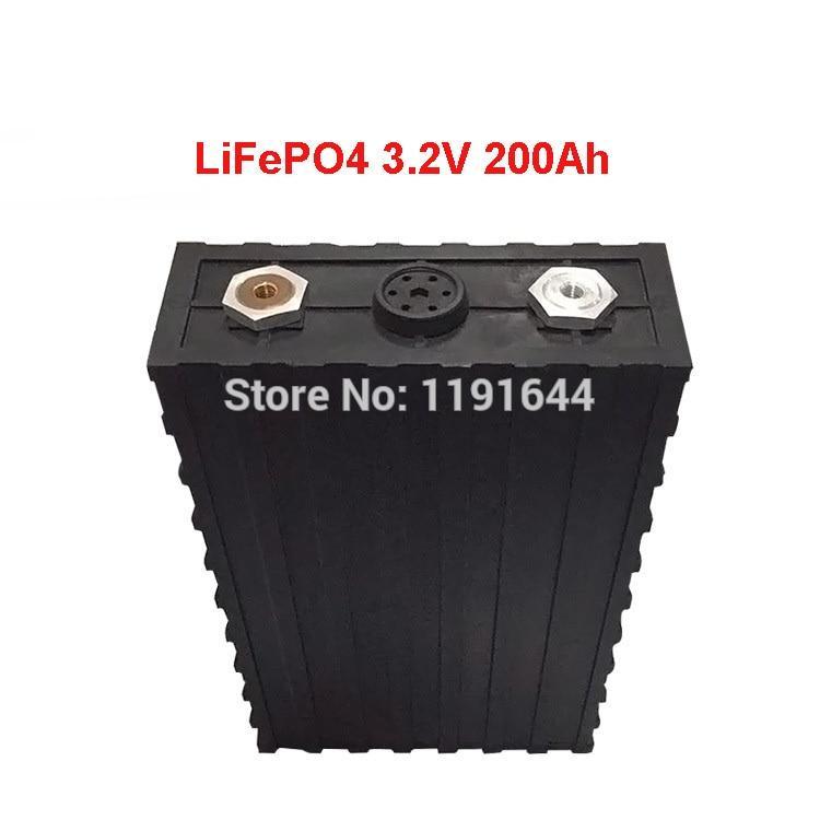 4Pcs/Lot 3.2V 200Ah Lifepo4 Prismatic Cell  2000  600A Solar