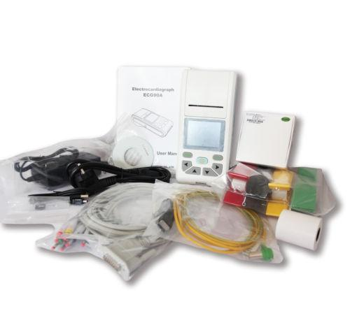 Ecg90A Contec Ecg 12 Canais Eletrocardiógrafo Ecg Pc Toque