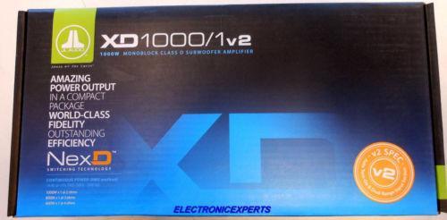 Jl Áudio Xd1000 / 1V2 Amplificador 2000 Watt Mono Xd10001V2