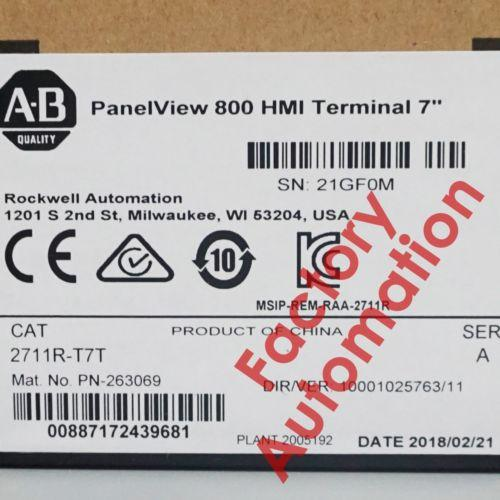 Sealed Allen-Bradley Panelview 800 7-Inch Terminal 2711R-T7T